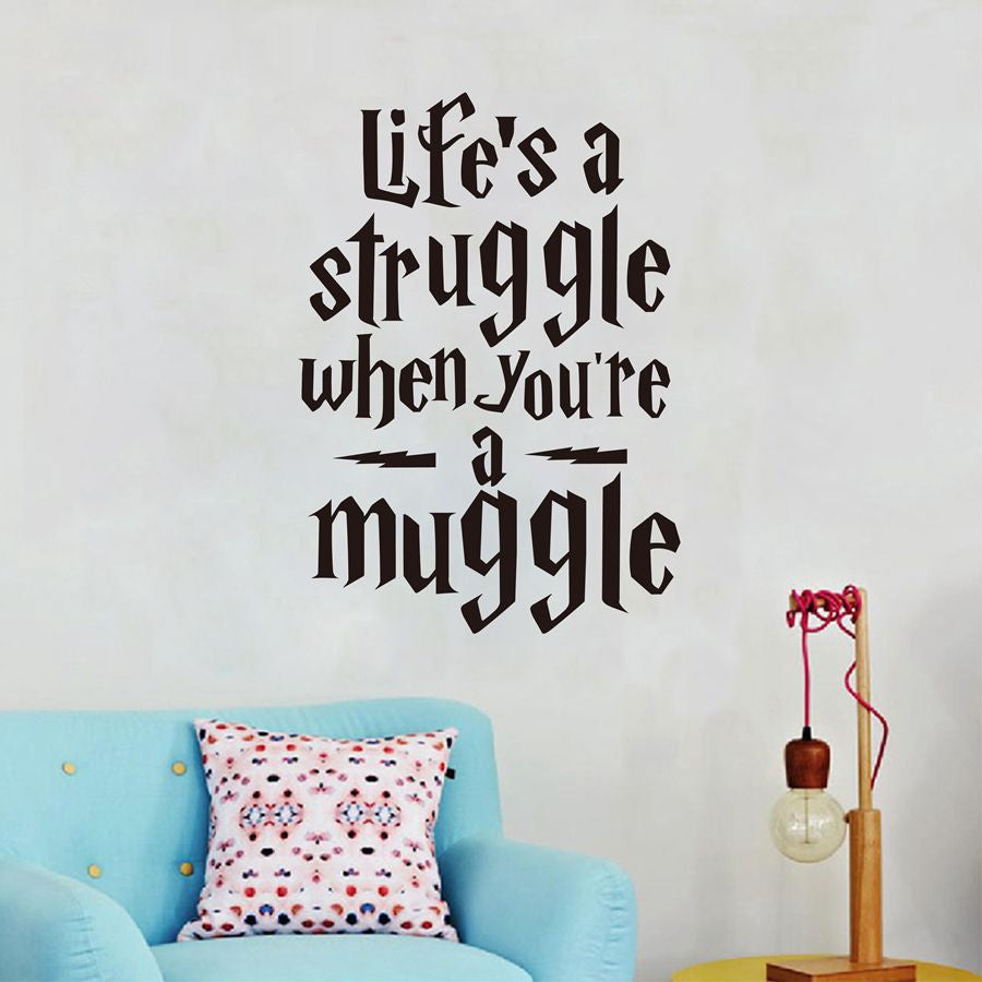 Life Is A Struggle Funny Harry Potter Wall Stickers Quotes Vinyl