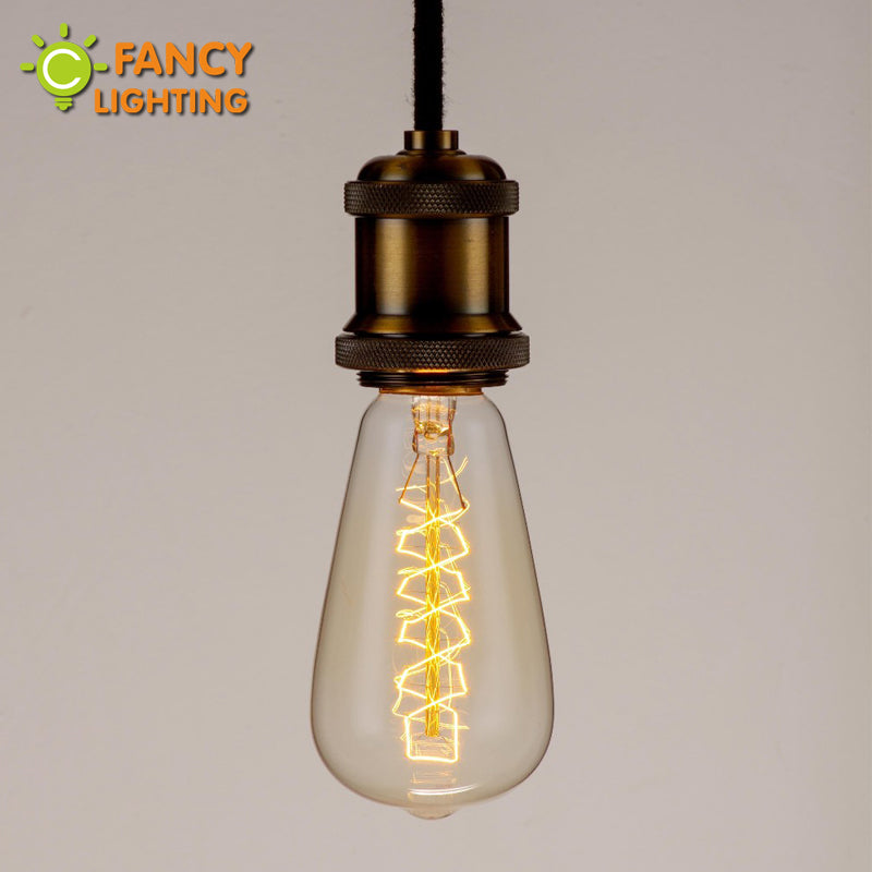 Edison decorative bulb st64 screw filament e27 light 220v retro lamp 40w 60w incandescent bulb ampoule vintage christmas lights