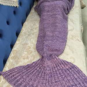 Mermaid Blanket Yarn Knitted Mermaid Tail Blanket Handmade Crochet Very Soft For Home Sofa Sleeping Bag Kids Adults Sleeping Bag