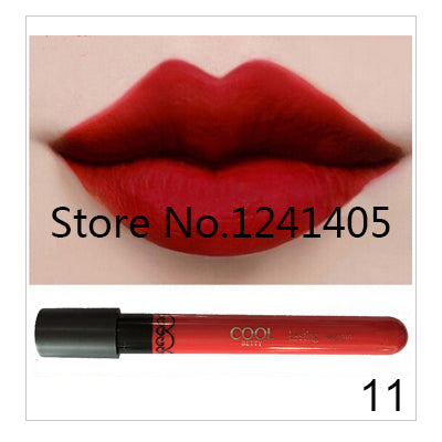 Amazing 12 Colors Waterproof Lip Gloss Long-Lasting Matte Lipstick Liquid 6.6g Makeup Brand EFU #21010