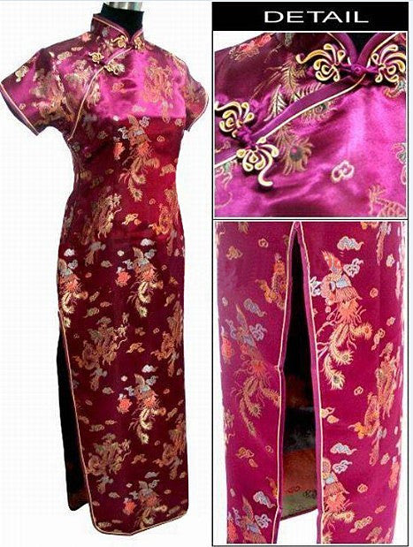 Black Womens Satin Long Cheongsam Qipao Traditional Chinese Dress Plus Size S M L XL XXL XXXL 4XL 5XL 6XL Mujeres Vestido J3095