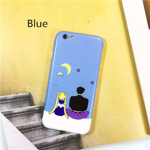 Freeshipping Dirt-resistant Promotion Hot Selling Cartoon Sailor Moon Couple Phone Case,soft Cover For Iphones 6/6s6plus/6splus