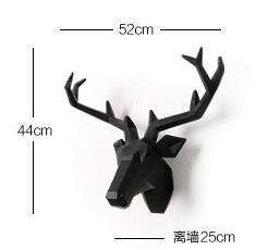 2016 Time-limited Home Decoration Accessories Furnishing Wood Resin Animal Head Hanging Pendant Bar Mural Deer Living Room Wall