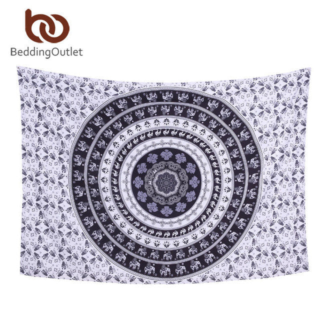Mandala Tapestry Crystal Arrays Blue Beautiful Wall Art Tapestry 130cmx150cm Indian Sheet belgium New Bedding