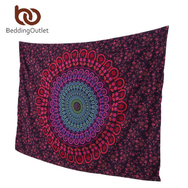 Beautiful  Crystal Arrays Mandala Tapestry