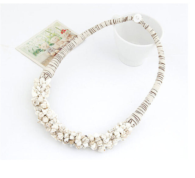 2017 Hot Sale Boho Jewelry Multi-Color Natural Stone Choker Collar Necklace Bitches Gifts Collier Bijoux