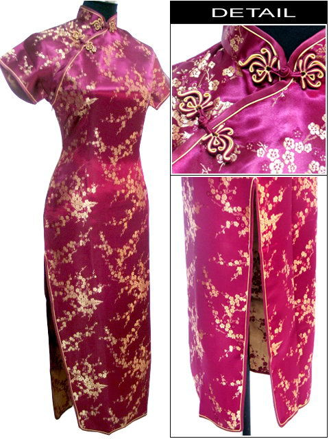 Black Traditional Chinese Dress Mujer Vestido Women's Satin Long Cheongsam Qipao Flower Size S M L XL XXL XXXL 4XL 5XL 6XL J3083
