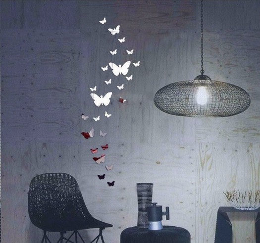 Diy Acrylic mirror wall sticker butterfly  Modern real promotion home decorations large decal 3d stickers Acrylic  For Wall