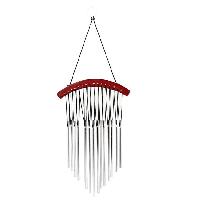 15 Tubes Windchime Yard Garden Wind Bell Outdoor Wind Chimes Decor Gift Wood Decoration Wind Chimes Chime Tubes