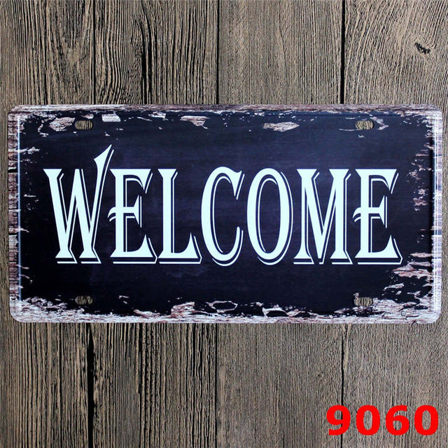 30*15 CM Free WIFI Funny License Plates Antique Pub Pub Party Wall Decoration Metal Tin Signs Plaque