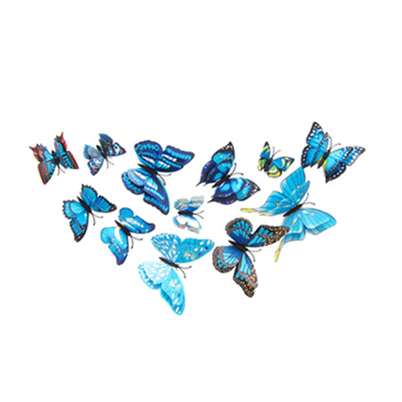 12 pcs 3D Butterfly Wall Stickers Home DIY Decor Wall Decals For Living Room, Bedroom, Kitchen, Toilet, Kids Room Decorations