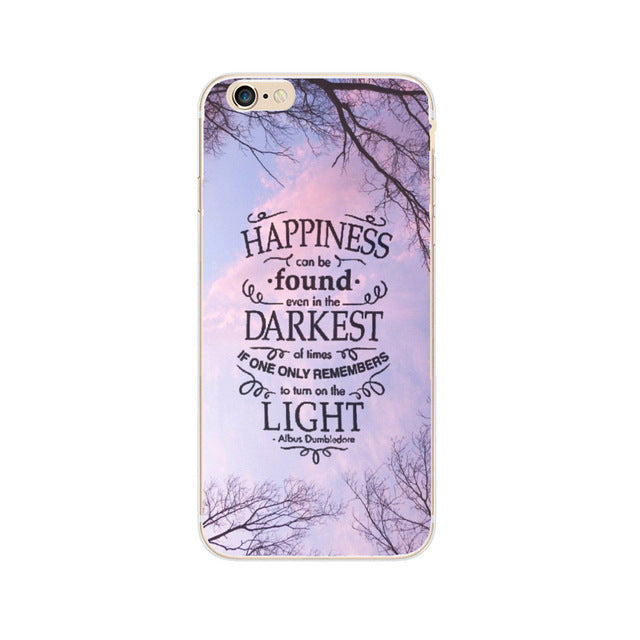 Harry Potter Case For iphone SE 5 5S 6 6S 6S 7 Plus Transparent Hard Plastic Cases Phone Back Cover For Coque iPhone 7Plus Capa