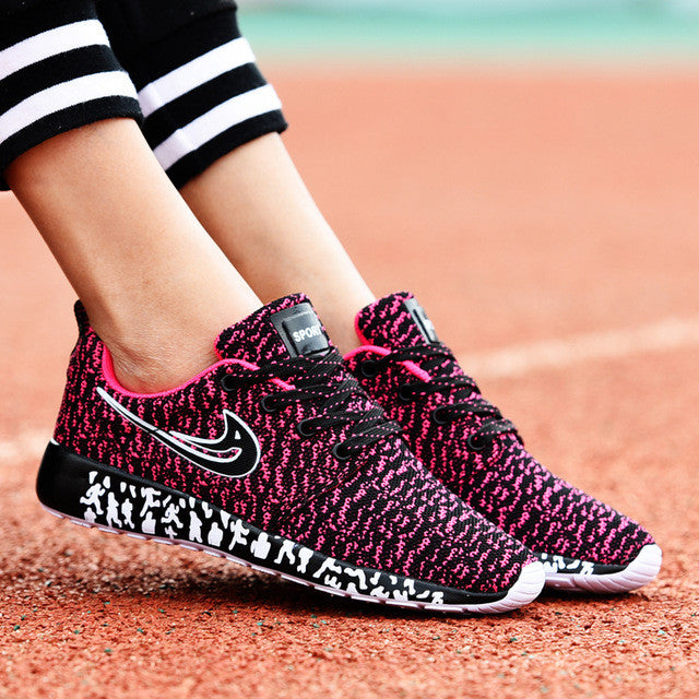 running shoes new light weight mesh sports shoes and  jogging sneakers for woman and man Autumn flat walking trend shoes