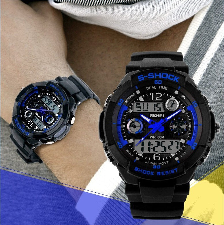 2016 New SKMEI Luxury Brand Men Military Sports Watches Digital LED Quartz Wristwatches
