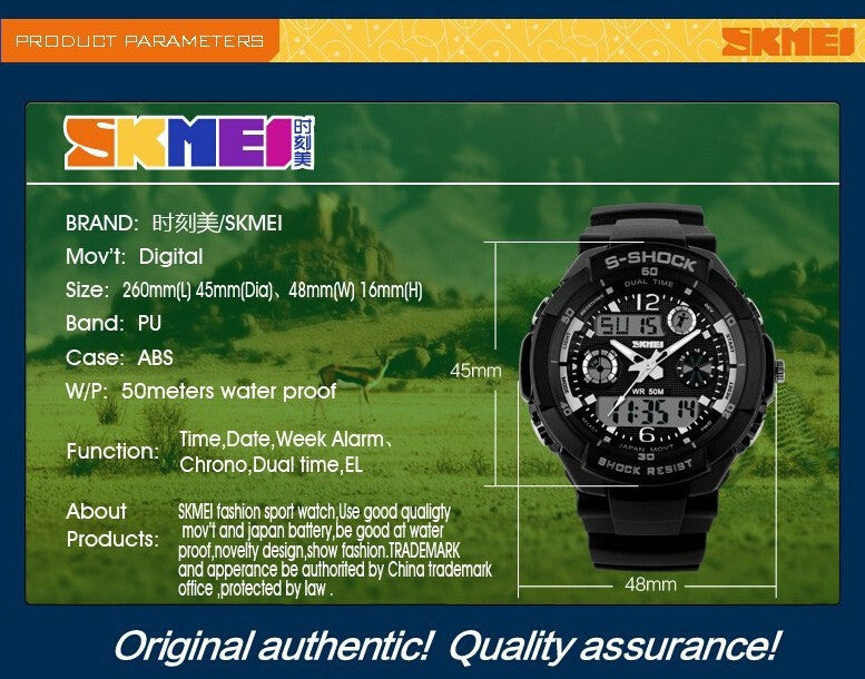 2016 New SKMEI Luxury Brand Men Military Sports Watches Digital LED Quartz Wristwatches - ShopNowBeforeYouDie.com