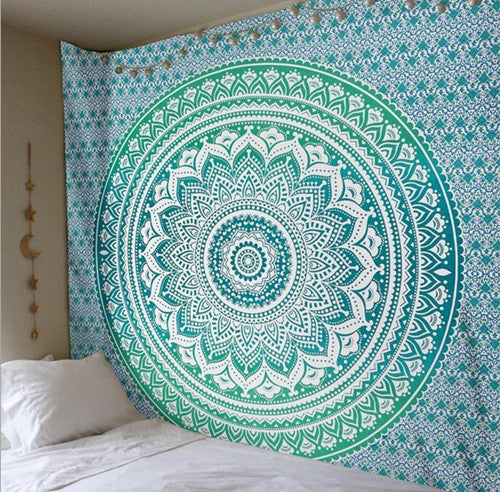 Indian Bohemian Tapestry Colored Printed home Decorative Mandala Tapestry  210cmx150cm 150cmx150cm Boho bedding bed sheet