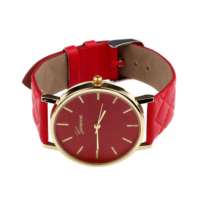 b16a50cdc New watch women Checkers Faux lady dress watch, women's Casual Leather –  ShopNowBeforeYouDie.com