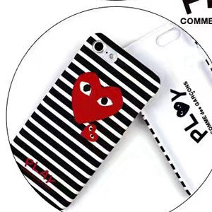 BIGSONG Fashion CDG PLAY Comme des Garcons Loving eyes Fluorescence Hard PC Case cover For iPhone 7 7 Plus 6 6S Plus