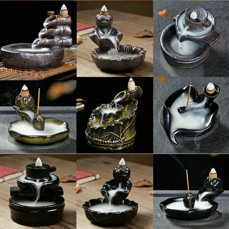Incense Or Burner Creative Home Decor Lotus Bergamot Incense Censer Backflow Incense Burner Use In The Home Office Teahouse