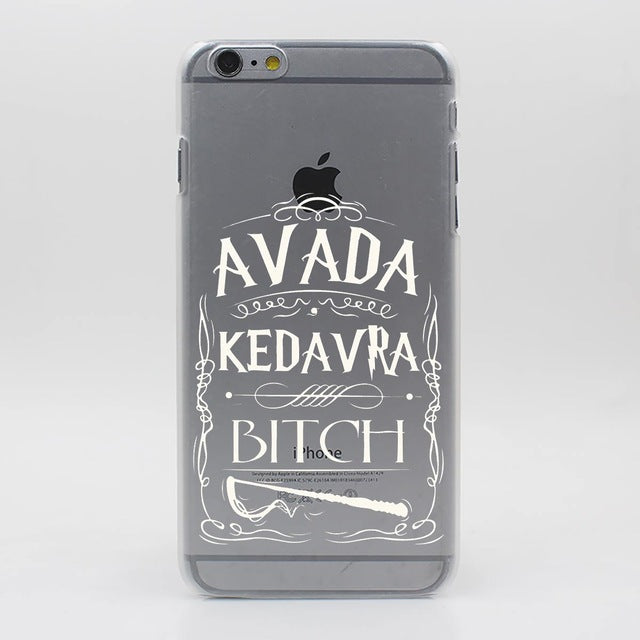 Avada Kedavra Harry Potter Bitch Hard Transparent Case Cover for iPhone 7 7 Plus 6 6S Plus 5 5S SE 5C 4 4S