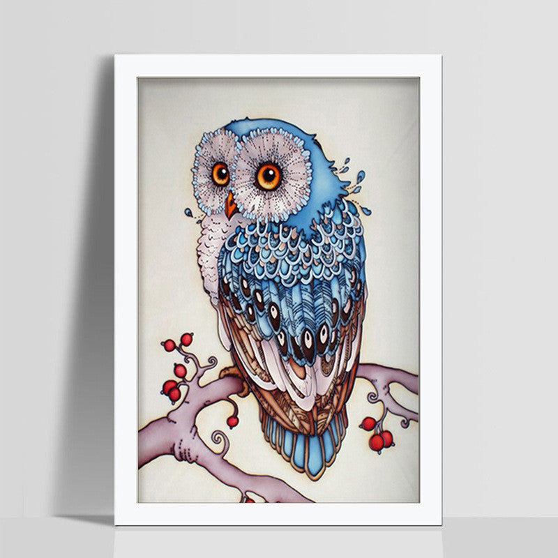 CAMMITEVER 2017 New 5D Diamonds Full Drill Cartoon Animal Owl Stick Drill Cross Diamonds Embroidery Animals Diamond Painting