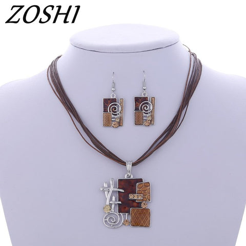 ZOSHI Fashion African Jewelry Set 2017 Nigerian Wedding Jewelry Sets for Brides Party Rope Bridal Jewelry Sets Summer Jewelry