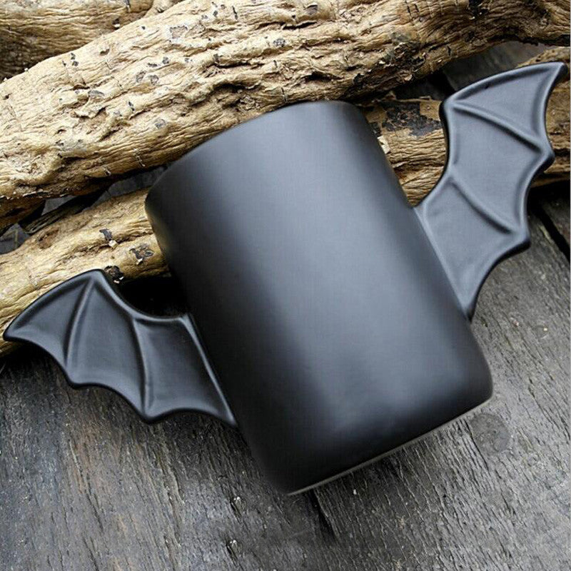 Morning Ceramic Mug  Black Bat Style Mug Enjoy Coffee Milk Tea Time Good Gift for Friends Batman Creative Mug Free Shipping SH31
