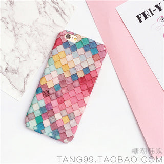 KISSCASE Fashion Colorful 3D Scales Phone Cases For iPhone 6 6s 7 Case Korean Girls Mermaid Cover For Apple iPhone 7 6 6s Plus