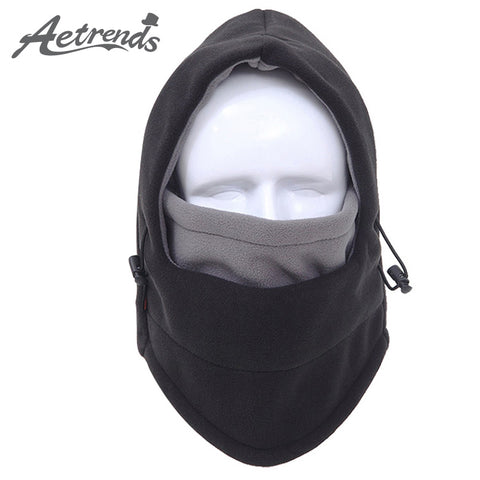 [AETRENDS] 2016 New Winter Hats Double Color Layers Skull Motorcycle Balaclava Hat CS Face Mask Cap Z-3944