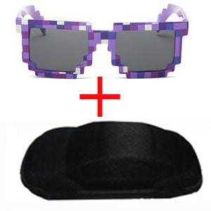 Long Keeper Kids Sunglasses Mosaics Minecraft 4-13 Years Square Children Sun Glasses Boys Girls Pixel Eyewares Christmas Gift