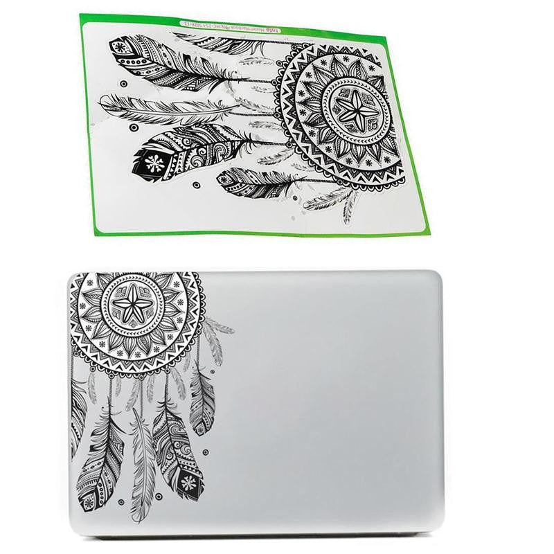 Dream Catcher Sticker Retro Feather Art Pattern Vinyl Decal Sticker For Macbook Air Retina Laptop