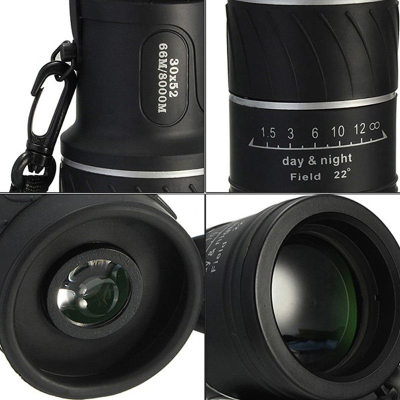 High Quality Adjustable 30X52 Mini Dual Focus Optic Lens