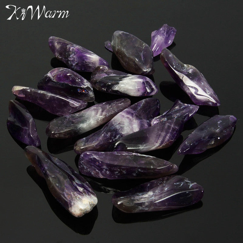 KiWarm 50g Natural Rough Purple Quartz Crystal Healing Stone Amethyst Point Specimen Minerals for Fish Tank Home Decor Gift