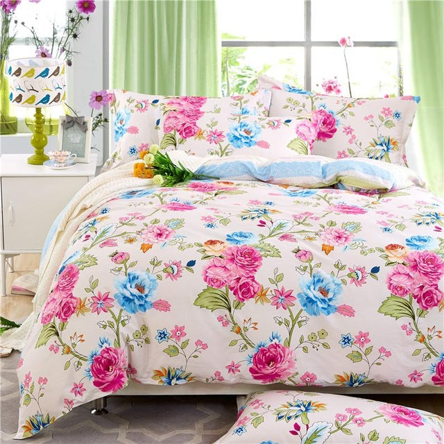 29 Bedding set 4pcs queen full double size Bohemia style 100%cotton duvet quilt cover bedsheet pillowcase linen bedcover set