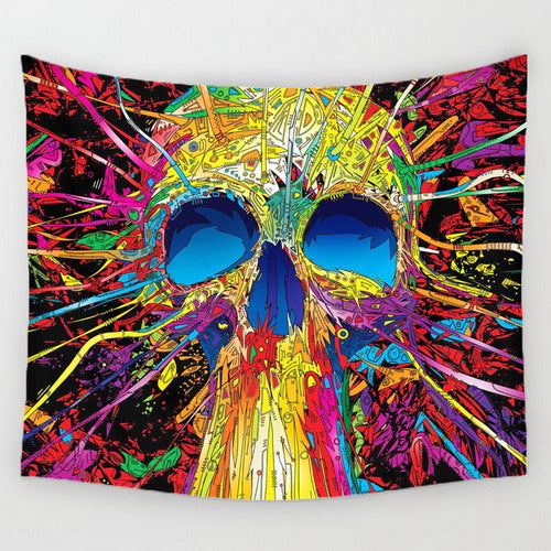 indian mandalas  skull wall tapestry polyester tapices new design indian tapestry boho wall hanging blanket