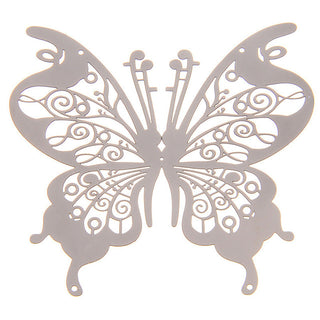 10PCS /lot DIY 3D Stainless Butterfly Mirror Wall Sticker Removable Self adhesive Decals Metal Wedding Wall Home Decor Wallpaper