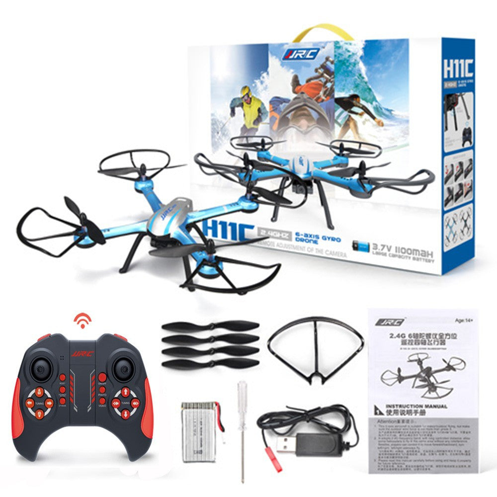 JJRC H11C With Camera 2.0MP HD 2.4G 4CH 6Axis One Key Return RC Quadcopter RTF Remote Control Helicopter Drone 3D Mode Snow H12C