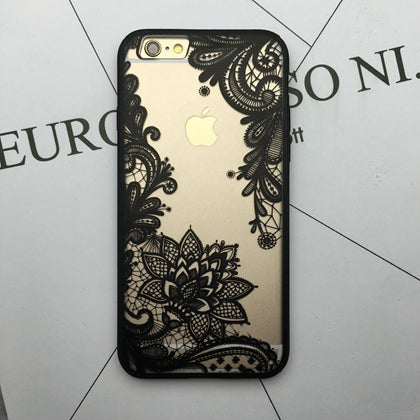 Kerzzil Flower Lace Full edge Protection Mandala Vintage Case For iPhone 7 6 6S Plus 5 5s SE Phone Back Cover For iPhone 6 7 6S