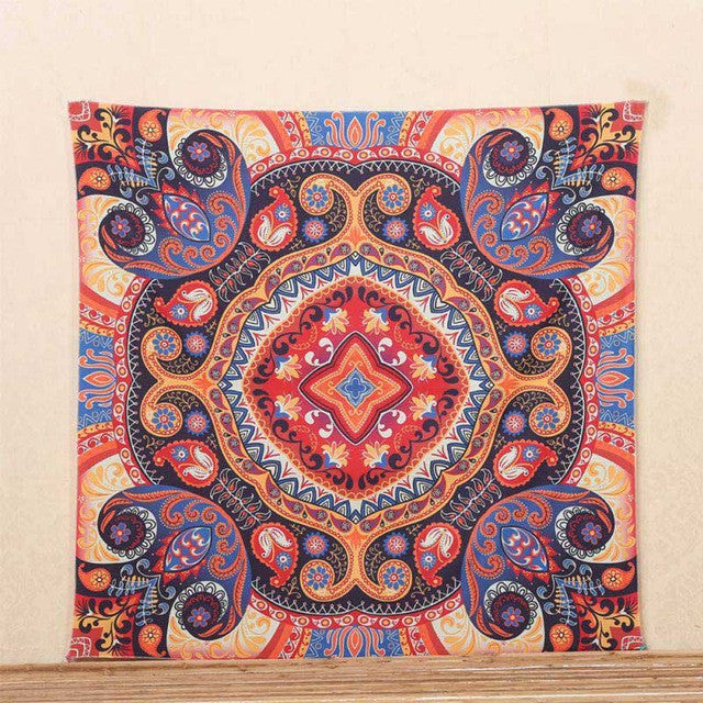 1Ps Indian Mandala Blankets Tapestry Wall Hanging Bohemian Bedspread Blanket Dorm Home Decor mantas mandalas
