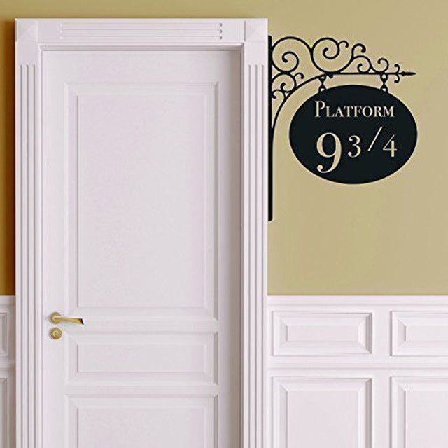 Creative Platform 9 3/4 Harry Potter Door Decor Sticker Artistic Wall Stickers For Kids Rooms  A2186