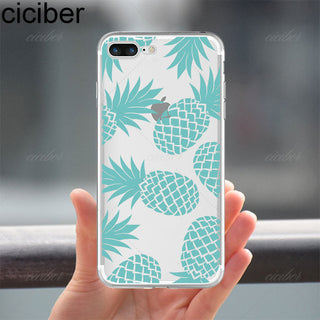 Summer Fruit Pineapple Watermelon Banana soft silicon phone cases cover For iphone 7 7 plus 5S SE 6 6S Capinha Coque Fundas Capa