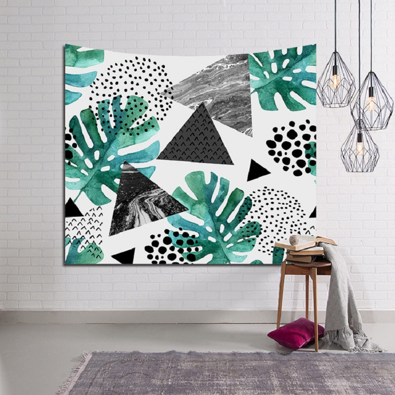 Wall Tapestry Leaves Bohemian Rectangular Tapestry Wall Hanging Mandala Bedspread Shawl 150x102cm tapiz Beach Towel toalla playa