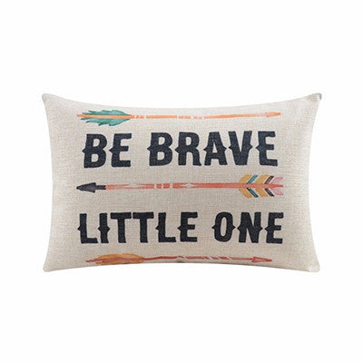 Be Brave Cushion Cover Linen Quote Throw Lumbar Pillow Case Arrows Letters Kids Gifts Car Room Decor