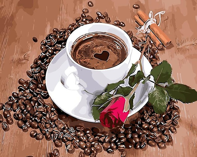 Love Coffee Home Decor no frame Painting Picture By Numbers Handwork Draw On Canvas Wedding Decoration Gift for friends Wall Art