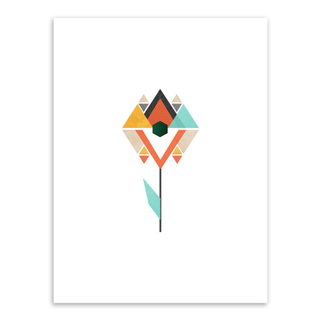 Modern Geometric Abstract Shape Mountain A4 Art Print Poster Nordic Wall Picture Living Room Home Decor Canvas Painting No Frame