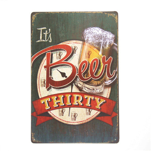 DL-Wine from beer vintage tin metal signs home decor Cafe Bar wall sticker house living room poster iron painting