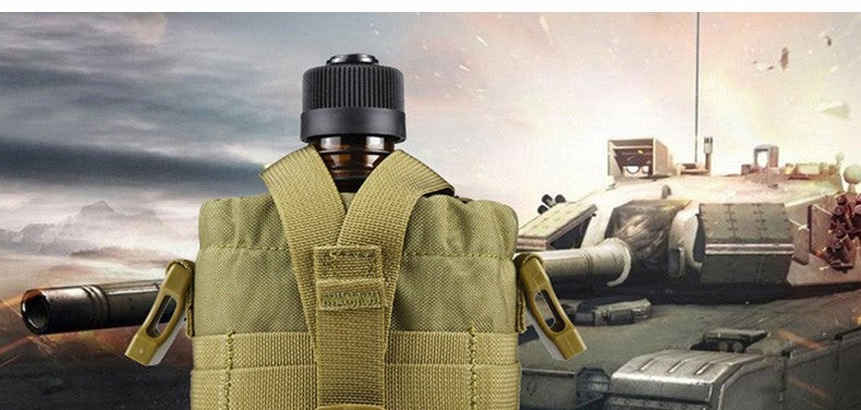 FREE SOLDIER Outdoor Military Water Bottle with Bag Pouch Tactical Blackhawk Kettle - ShopNowBeforeYouDie.com