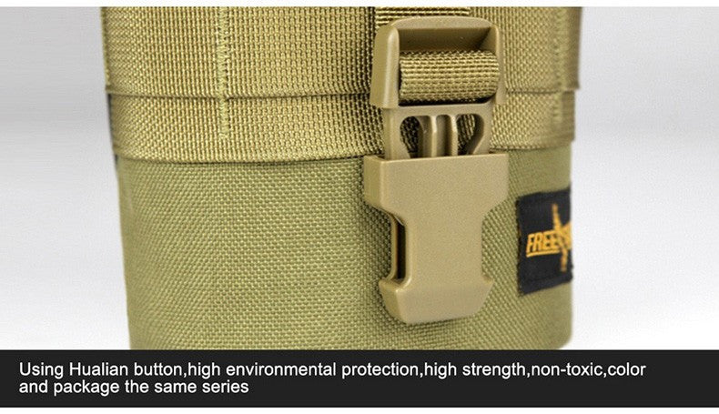 FREE SOLDIER Outdoor Military Water Bottle with Bag Pouch Tactical Blackhawk Kettle