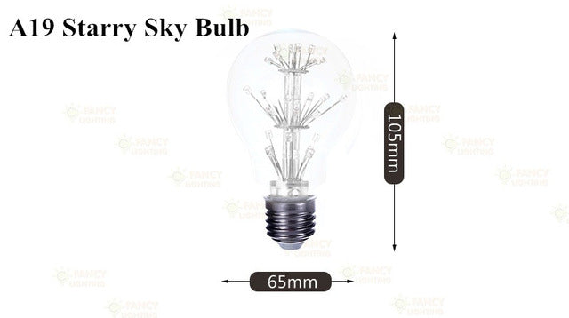 Led lamp e27 decorative light bulb 220v lampada led for home cafe restaurant decoration 3W st64 a60 starry sky firework lamparas