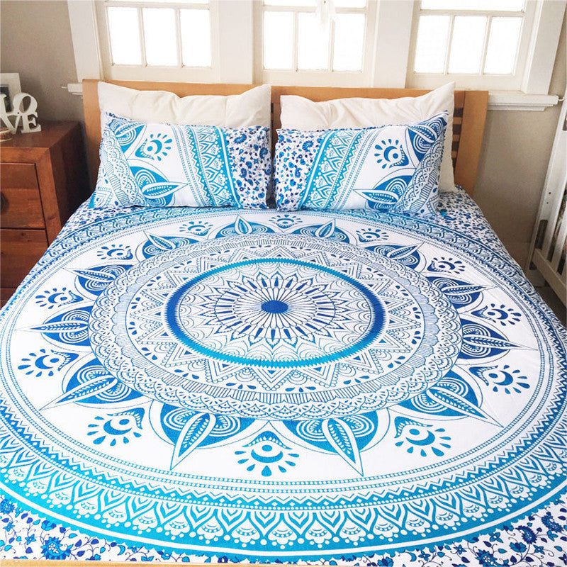Indian Decor Mandala Tapestry Wall Hanging Hippie Throw Bohemian Ombre Bedspread 150x210cm